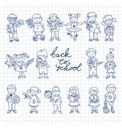 Set of carton doodle kids vector image vector image