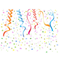 streamers confetti background vector image vector image