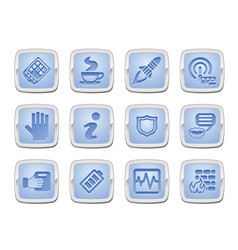 application icon set vector image vector image