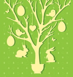 easter paper decoration in the form of easter tree vector image vector image