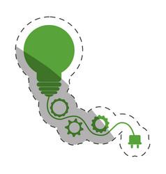 environment bulb gears plug vector image