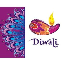 Happy Diwali festival background vector image vector image