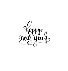 happy new year hand lettering congratulation vector image vector image