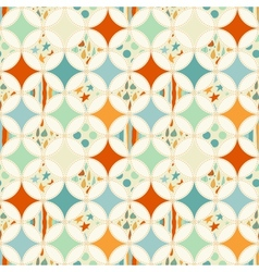Overlapping circles seamless pattern vector image