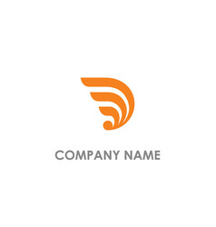 Abstract wing company logo vector