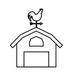 Agriculture farm house building weather vane with vector