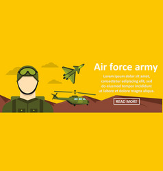 air force army banner horizontal concept vector image