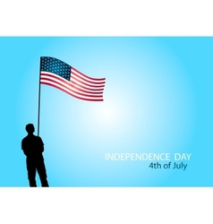 american independence day 4th july vector image