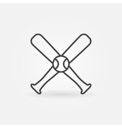 Baseball icon or logo vector