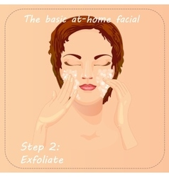 Beauty facial procedure Face vector image