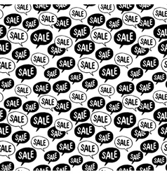 Black friday seamless pattern speech bubble with vector