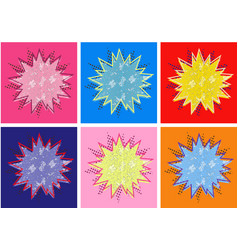 boom pop art cloud on a white background vector image