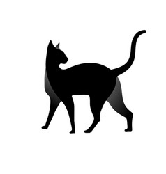 cat silhouette logo design vector image