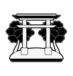 Chinese portal symbol vector
