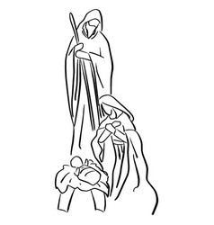 Christmas christian nativity scene of baby jesus vector