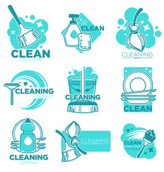 Cleaning service and company for home hygiene vector