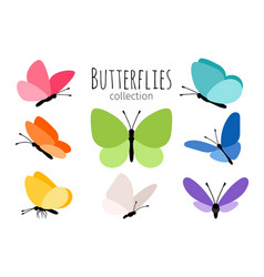 Colored spring butterflies vector