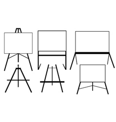 easels vector image