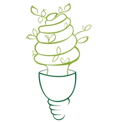 Energy saving vector image