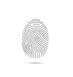 fingerprint scan icon vector image