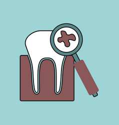 Flat icon design collection tooth with a vector