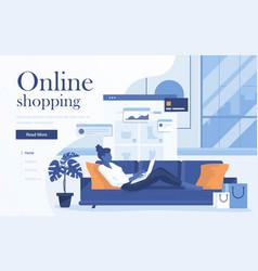 flat modern design online shopping vector image