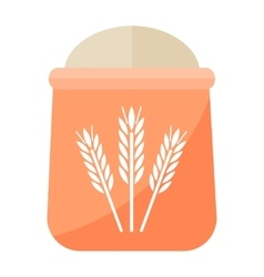 Flour bag vector