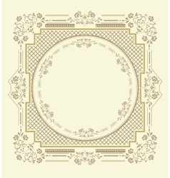 Frame floral ornament vector
