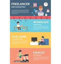 Freelance infographic design elements vector image
