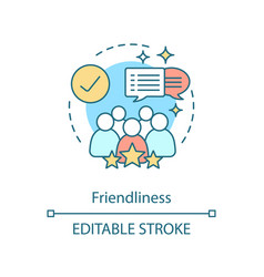 Friendliness concept icon vector