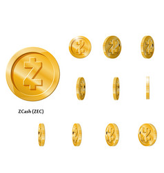 Gold rotate zcash frames vector