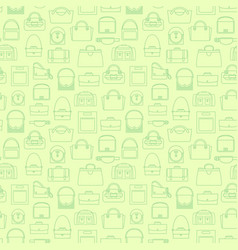green fashion line bags seamless pattern vector image