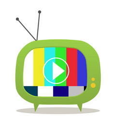 green tv vector image