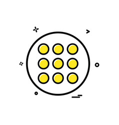 grid list icon design vector image