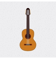 guitar instrument musical isolated icon vector image