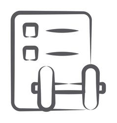 Gym assessment vector