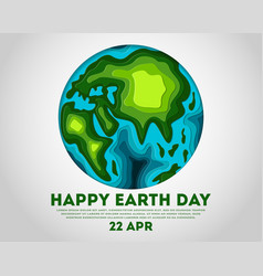 happy earth day poster with globe vector image
