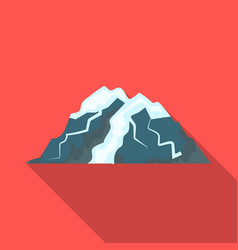 ice mountain all the cracksthe mountain from vector image