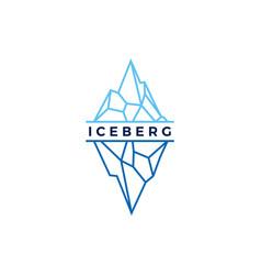 Iceberg logo geometric line outline monoline vector