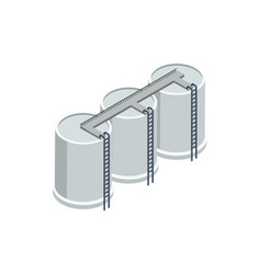 Industrial storage of gasoline isometric element vector