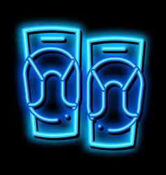 Joint ointment neon glow icon vector