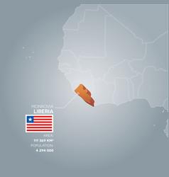 liberia information map vector image