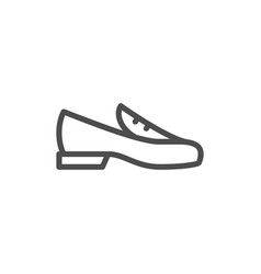 loafer shoe line icon vector image