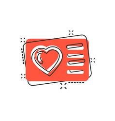 Loyalty card icon in comic style reward cartoon vector