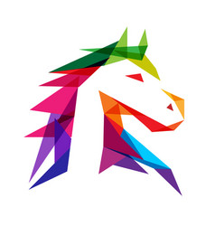 Majestic horse logo vector