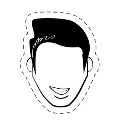 male faceless people black and white vector image