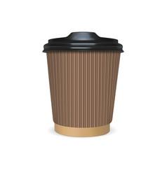 mock up paper cup of coffee tea milk vector image