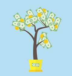 Money tree concept vector