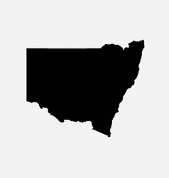 New south wales australia map black silhouette vector