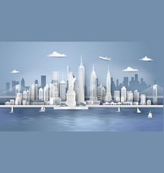 new york city panorama skyline vector image